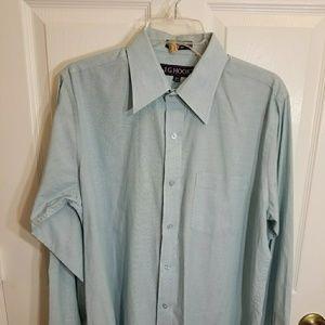 J.G.Hook blue button down men's shirt