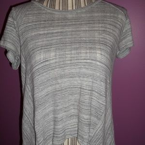 Tops - Women's size small Gray Hi-Low Short Sleeve top