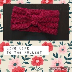 Red Knitted Head Wrap