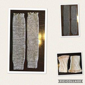 Set of 3 boot socks/leg warmers