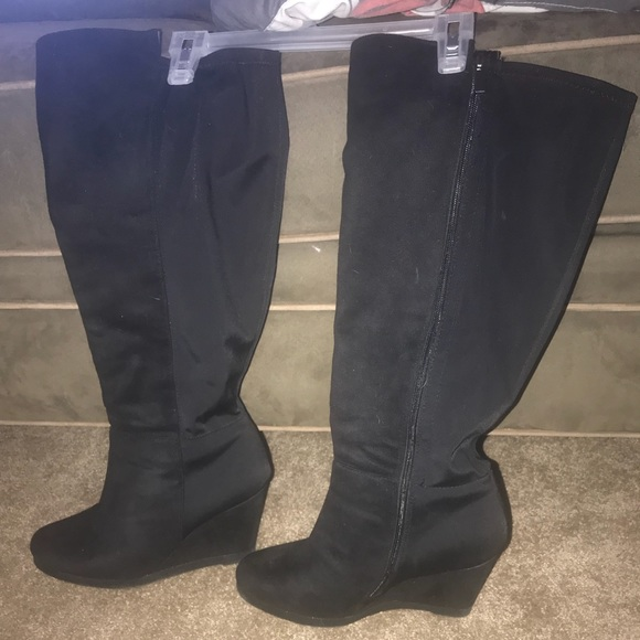 8e30eee4615 Lane Bryant Shoes - Black Size 11 Lane Bryant Wide Calf Boots.