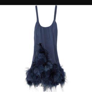 foley + carinna mini feather dress