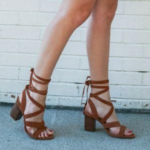 Sole Society Lyla wrap around heel, sandal