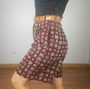 Vintage highwaisted gaucho style wide leg shorts