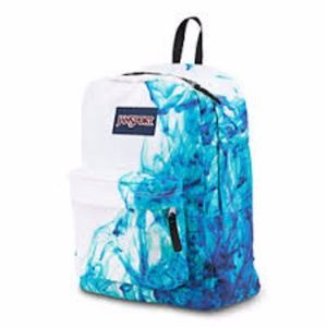 9c1ceda3006 White & Turquoise Jansport School Pack / Book Bag Boutique