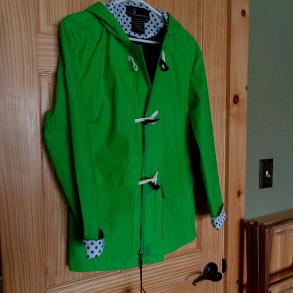 fa65cbfe536be i5 Jackets   Blazers - New With Tags! Polka Dot Toggle Raincoat ...