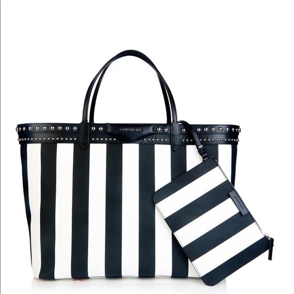 Givenchy Handbags - XL Givenchy Black White Striped Antigona Tote Bag 5df5d4705b429