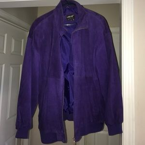 Jackets & Blazers - VINTAGE Purple suede Coat!!
