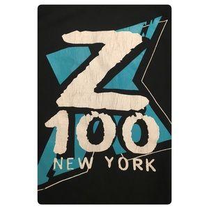 Vtg Ny radio Z100 double sided tee