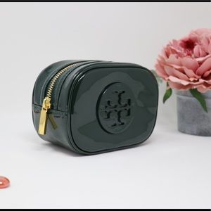 Tory Burch  stacked patent small cosmetic case
