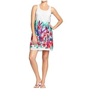 Old Navy White Floral Crepe Tank Dress
