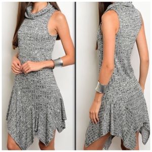 Gray Ribbed Knit Dress NEW