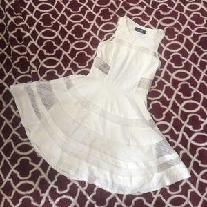 caf71e648b Lulu s Dresses - play nice ivory skater mesh dress