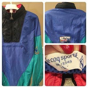 Vintage Le Coq Sportif Colorful Windbreaker