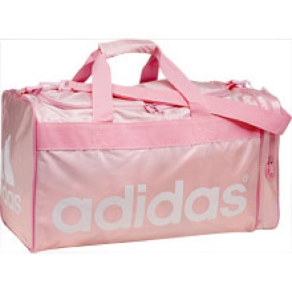 60ac9d46 Rare Adidas Pink Duffel Gym Bag- Large