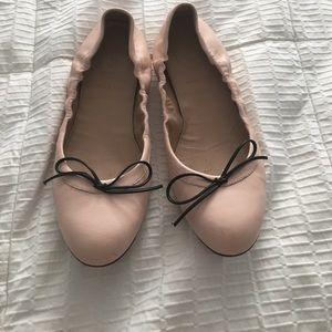 J Crew cream ballet flats