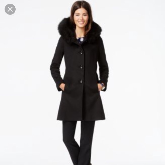 95a4d975b89 Forecaster of Boston Jackets   Blazers - Forecaster of Boston fur trim wool  dress coat