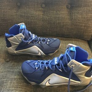 "40dbcc2114d5 Nike LeBron 12 ""Cowboys"" Shoes - Nike LeBron 12 Dallas Cowboys basketball  men 10.5"