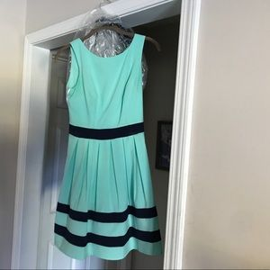 Dresses & Skirts - Navy and teal slightly above the knee dress