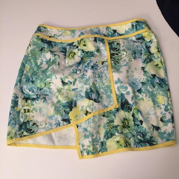 stelly Dresses & Skirts - Iike new stelly asymmetrical green floral skirt-4