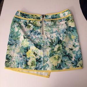 stelly Skirts - Iike new stelly asymmetrical green floral skirt-4
