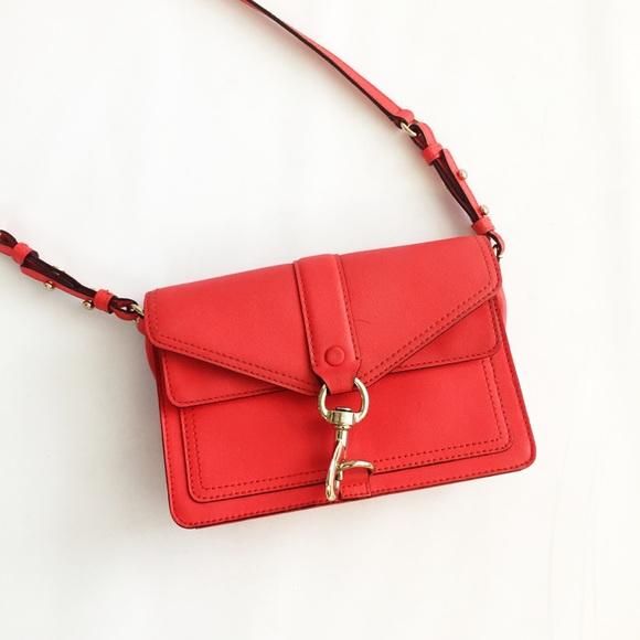 Rebecca Minkoff Handbags - Rebecca Minkoff Red Hudson Moto Mini Crossbody
