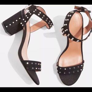 Topshop sold out Morocco black block heels sandals