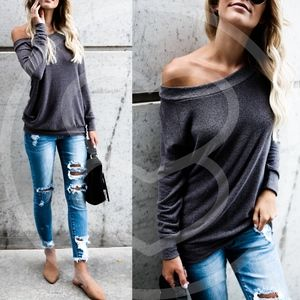 ANGELINA Softest Soft top - CHARCOAL