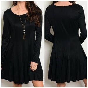 Dresses & Skirts - Black Long Sleeve Tunic Dress