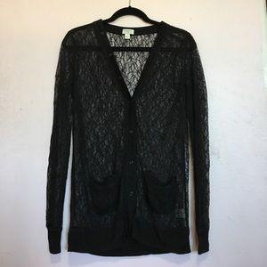 Black Rodarte For Target Lace Cardigan