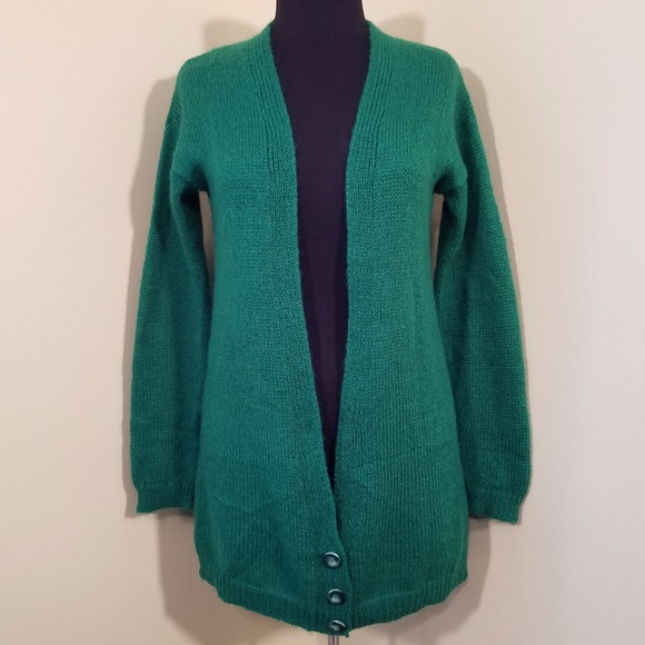 72f87618700 United Colors of Benetton Long Green Cardigan. M 59f3925f3c6f9fe3b10253b4