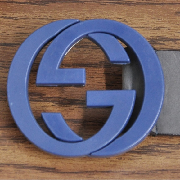 70e15a68153 Gucci Other - GUCCI Mens Belt Interlocking G Buckle Blue