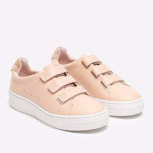 Sandro Anita Leather Velcro Trainers, size 37