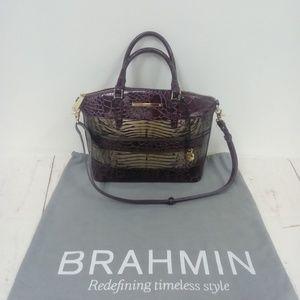 Brahmin Purple/Gold Handbag