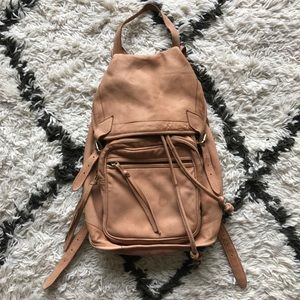 Topshop natural leather backpack