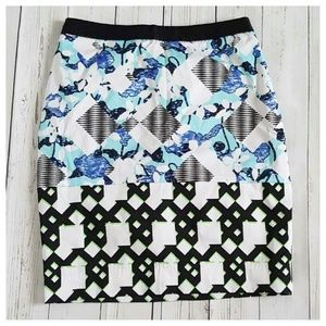 NWOT Peter Pilotto Multicolor Abstract Skirt sz6