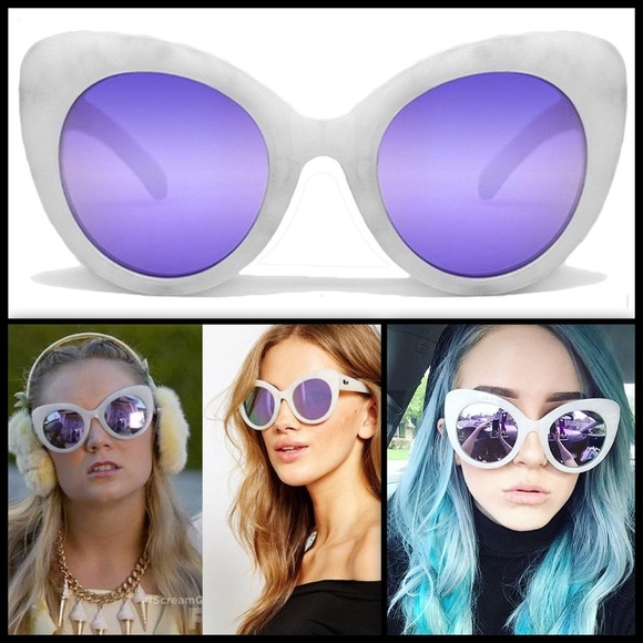 d3f21a2fc3 QUAY 🔮 Screaming Diva - White Marble Purple NWT
