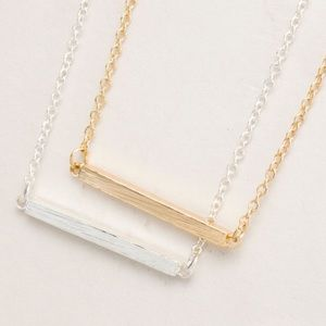 Jewelry - Bar on Chain Trend NWT Necklace in Gold or Silver