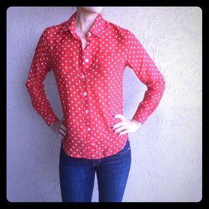 Louche polka dot blouse