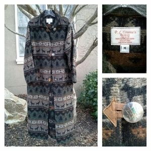 Utterly Gorgeous Winter Theme Wool Duster Coat