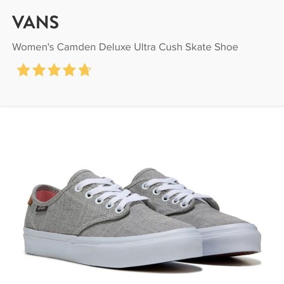 657cf67f44 Vans Women s Camden Deluxe Ultra Cush Skate Shoe. M 59f3a2205a49d002c402a083