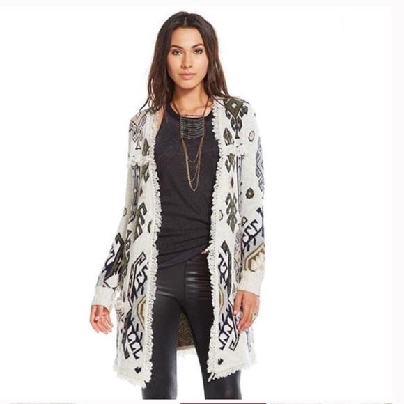 7cdf6c78702f Chaser Sweaters   Tapestry Fringe Cardigan   Poshmark