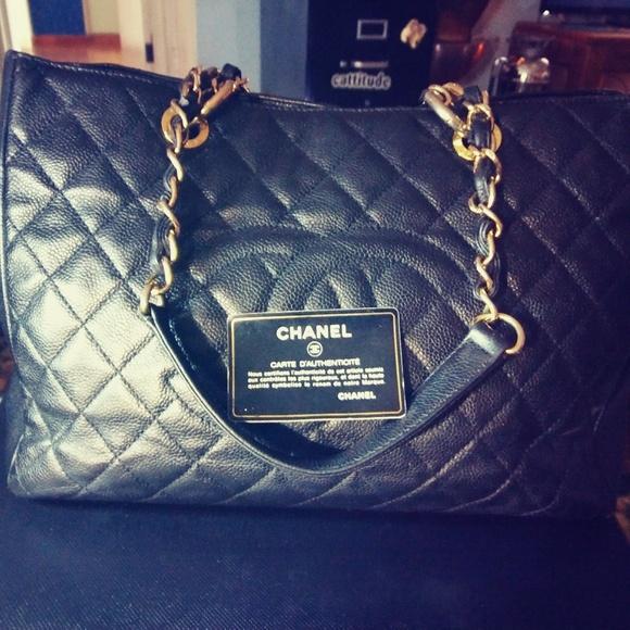 7518357495 CHANEL Bags | Auth Black Caviar Gst Grand Shopper Tote | Poshmark