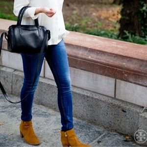 c35de1e5dd2 Tory Burch Shoes - Tory Burch Sabe ankle booties in Caramel Suede