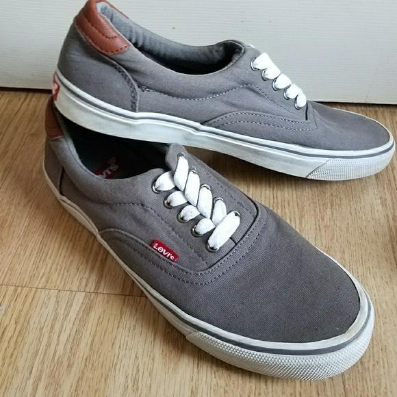 Levis Grey Canvas Sneakers