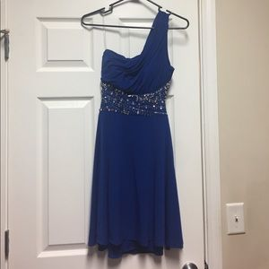 Royal blue prom semi formal dress