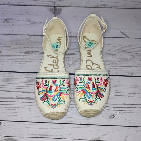 46167a64d543 Sam Edelman Beige Jemmie Embroidered Espadrilles