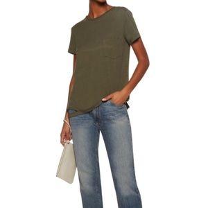 Helmut Lang Cut-out Hem Shirt Army Green Small