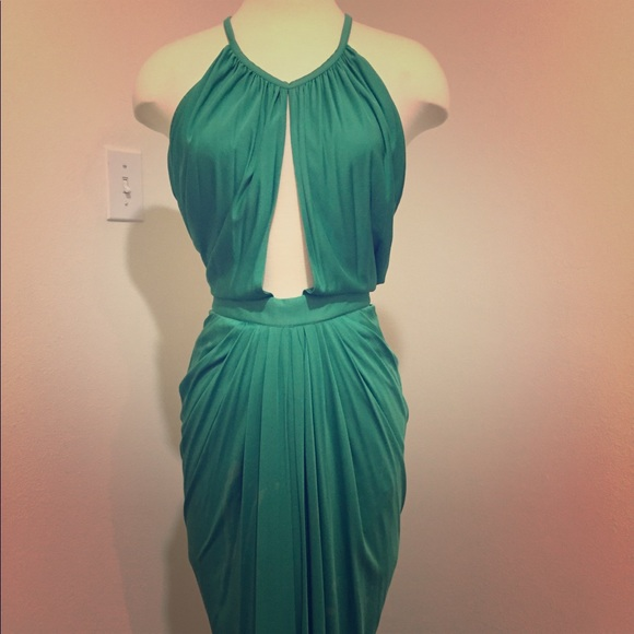 Versace Dresses | Green Evening Gown Dress | Poshmark