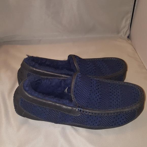 6c5d0fcff6b Men's UGG Ascot Weave Slippers Size-8 Navy Blue